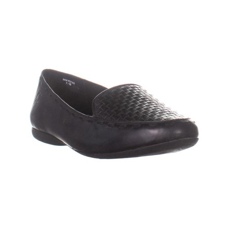 Womens Born Maple Slip On Flat Loafers, Black, 7 US / 38 (Born Womens Loafers)