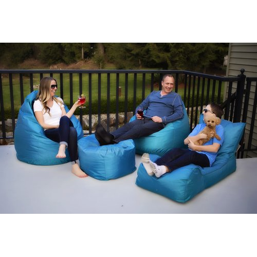 Modern Bean Bag Summer Days 4 Piece Bean Bag Set
