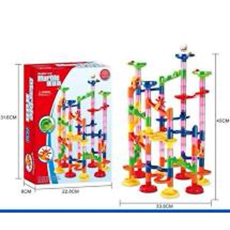 105 Pc Marble Roll Roller Coaster Race Set Toy - Marble Racer