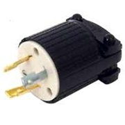Eaton Wiring Devices L520P Locking Straight Body Electrical Plug 125 V 20 A Thermoplastic