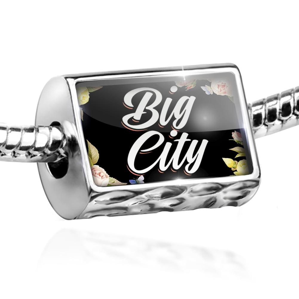 Bead Floral Border Big City Charm Fits All European Bracelets