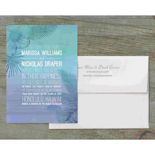Tropical Oasis Deluxe Wedding Invitation