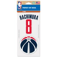 "Rui Hachimura Washington Wizards WinCraft Two-Pack 4"" x 8"" Perfect Cut Player Decals"