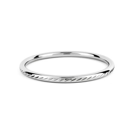 Stainless Steel Diamond Cut Design Bangle Bracelet