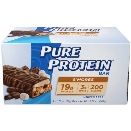 Pure Protein Bar, S'mores, 19g Protein, 6 Ct