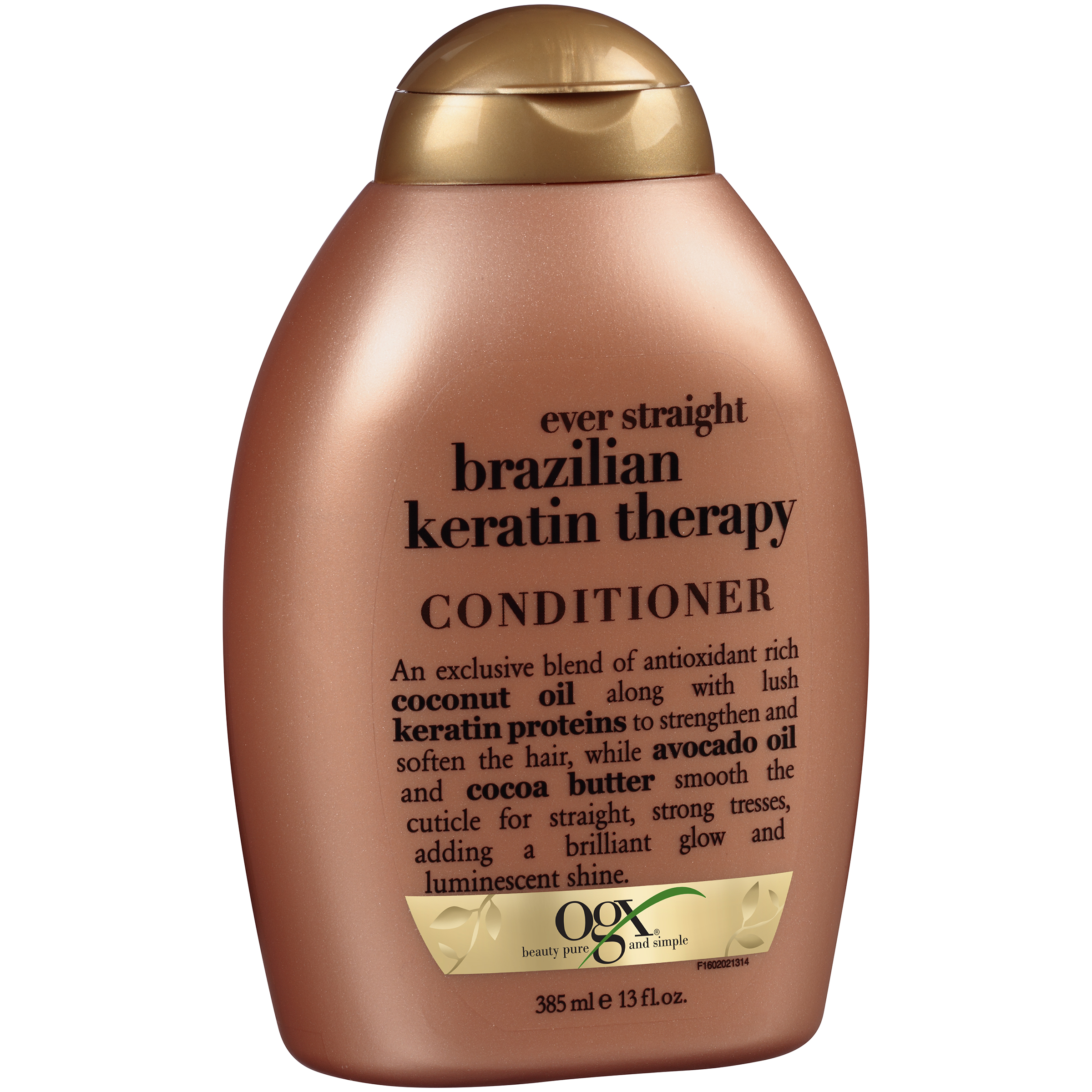 OGX�� Ever Straight Brazilian Keratin Therapy Conditioner 13 fl. oz. Squeeze Bottle