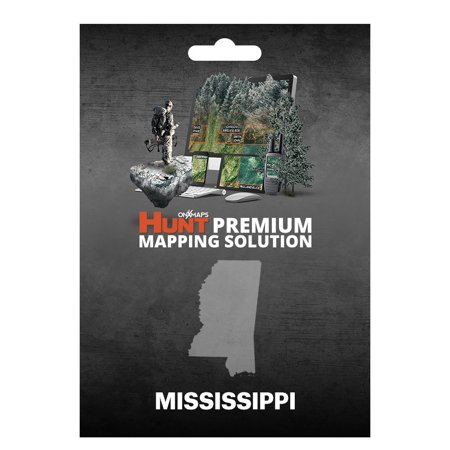 Onxmaps Hunt Mississippi   Gps Map With Hunting Land Owner Data For Garmin  Microsd Sd Card   Smartphone    Computer