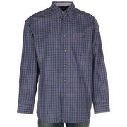 Wrangler Apparel Mens  George Strait  Small Plaid L/S Button Up Shirt XXL Navy/Magenta