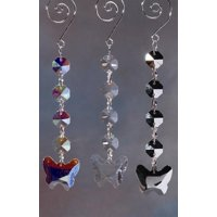 Butterfly Acrylic Hanging Crystals Chandelier, 6-1/4-inch