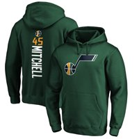 Donovan Mitchell Utah Jazz Fanatics Branded Playmaker Name & Number Pullover Hoodie - Green
