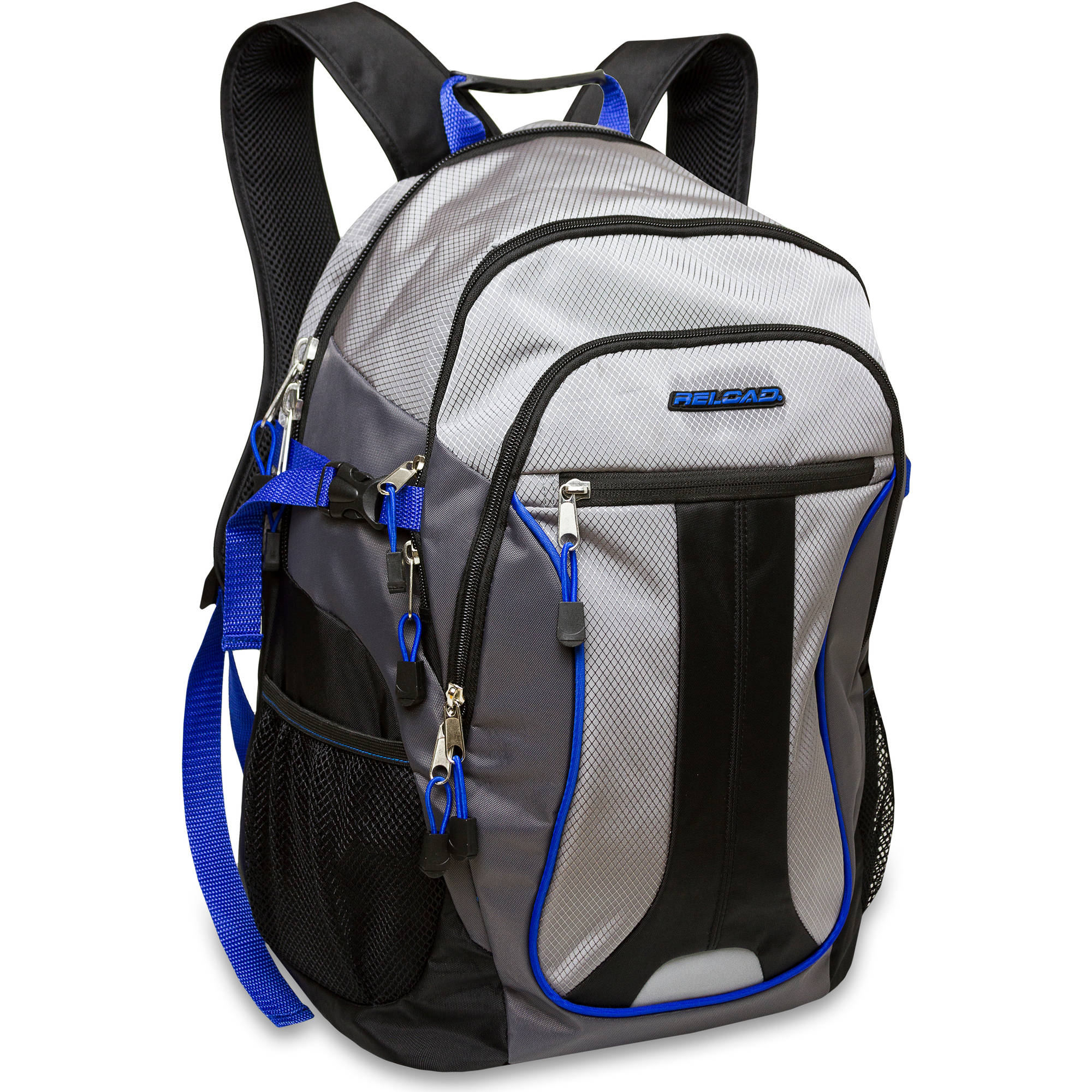 19 inch Reload Jacquard Multi Section Backpack with Tech Section and Reflective Trim