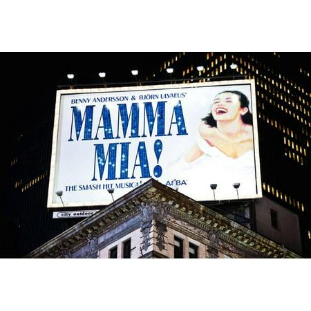 Advertising - Mamma Mia - Times square - Manhattan - New York City - United States Print Wall Art By Philippe (New York City Stores In Times Square)