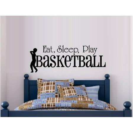 EAT SLEEP PLAY BASKETBALL #1 ~ WALL DECAL, HOME DECOR 9