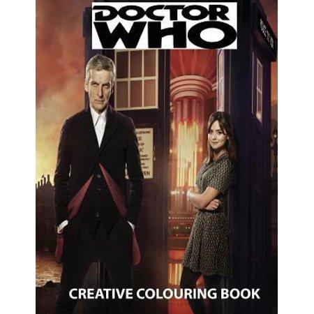 Doctor Who Creative Colouring Book  Cybermen  K 9  Rose  Rory  Amy  David Tennant  Matt Smith  The Master  Present  Gift  Kid  Child  Children  Tv Ser