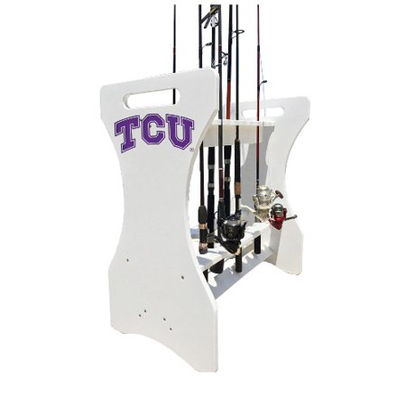 Ncaa fishing pole holder by key largo adirondack tcu for Walmart fishing pole holder