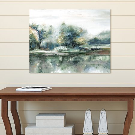 Portfolio Canvas D Cor Spring Lake Crop Teal Light By Sandy Doonan Wrapped Canvas Wall Art  22X28