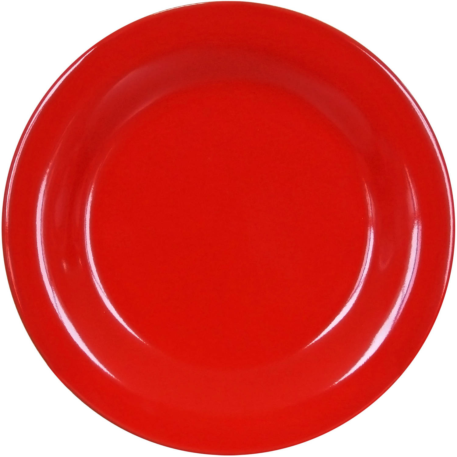 Mainstays Bright Red 4-Pack Stoneware Salad Plates