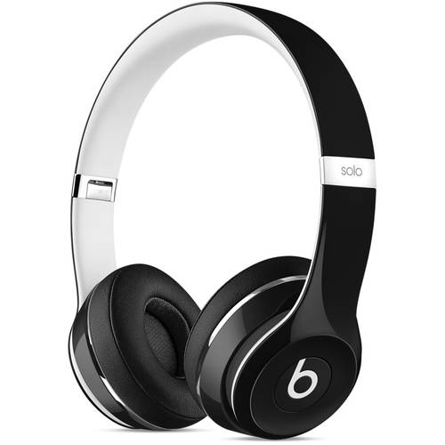 Beats by Dr. Dre Solo2 Black Luxe Edition Over Ear Headphones ML9E2AM/A, Refurbished