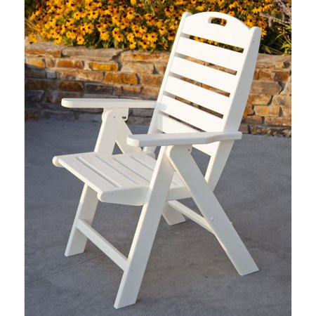 POLYWOOD; Nautical Recycled Plastic Highback Patio Chair