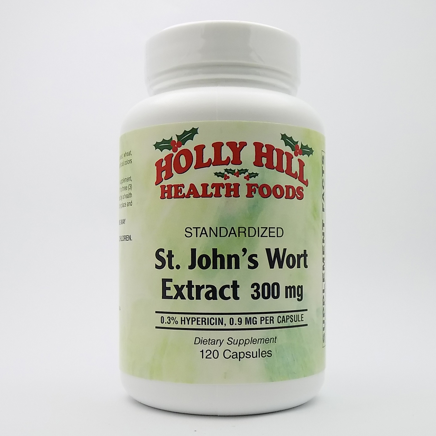 Holly Hill Health Foods, Standardized St. John's Wort Extract, 300 MG, 120 Capsules