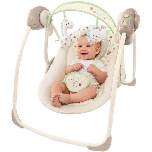 Comfort & Harmony by Bright Starts Portable Swing, Sandstone