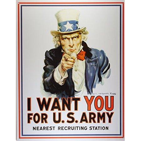 Uncle Sam I Want You Tin Sign 13 x - Sam I Am Sign