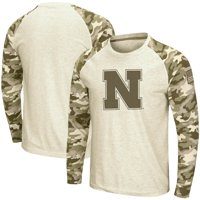 Nebraska Cornhuskers Colosseum OHT Military Appreciation Desert Camo Raglan Long Sleeve T-Shirt - Oatmeal