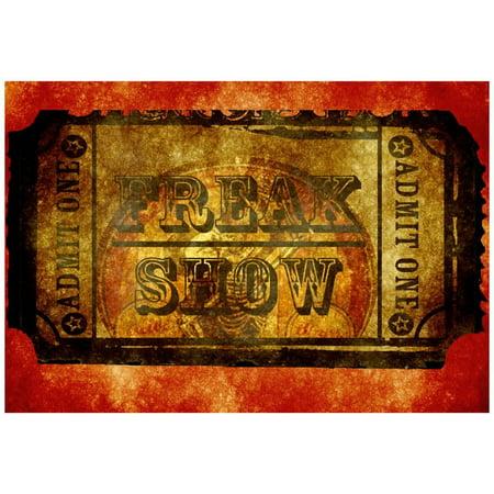 Freak Show Ticket 4 Poster - 19x13