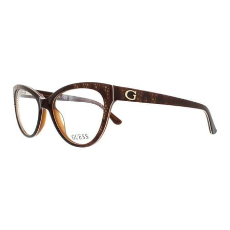 GUESS Eyeglasses GU2554 050 Dark Brown 52MM