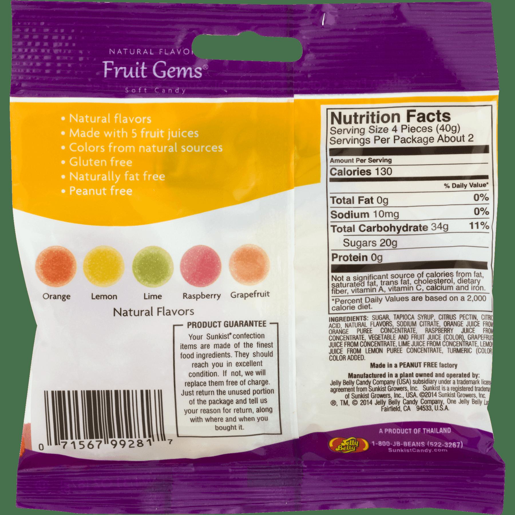(4 Pack) Sunkists, Fruit Gems , 3.1 Oz - Walmart.com