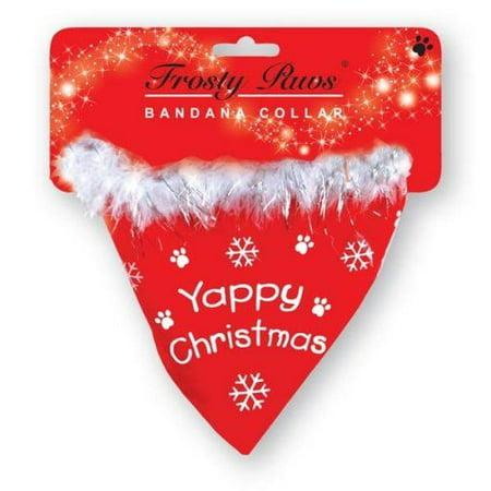 Christmas Dog Bandana Collar Yappy Christmas Xmas Grooming Bandanna Clothes Gift