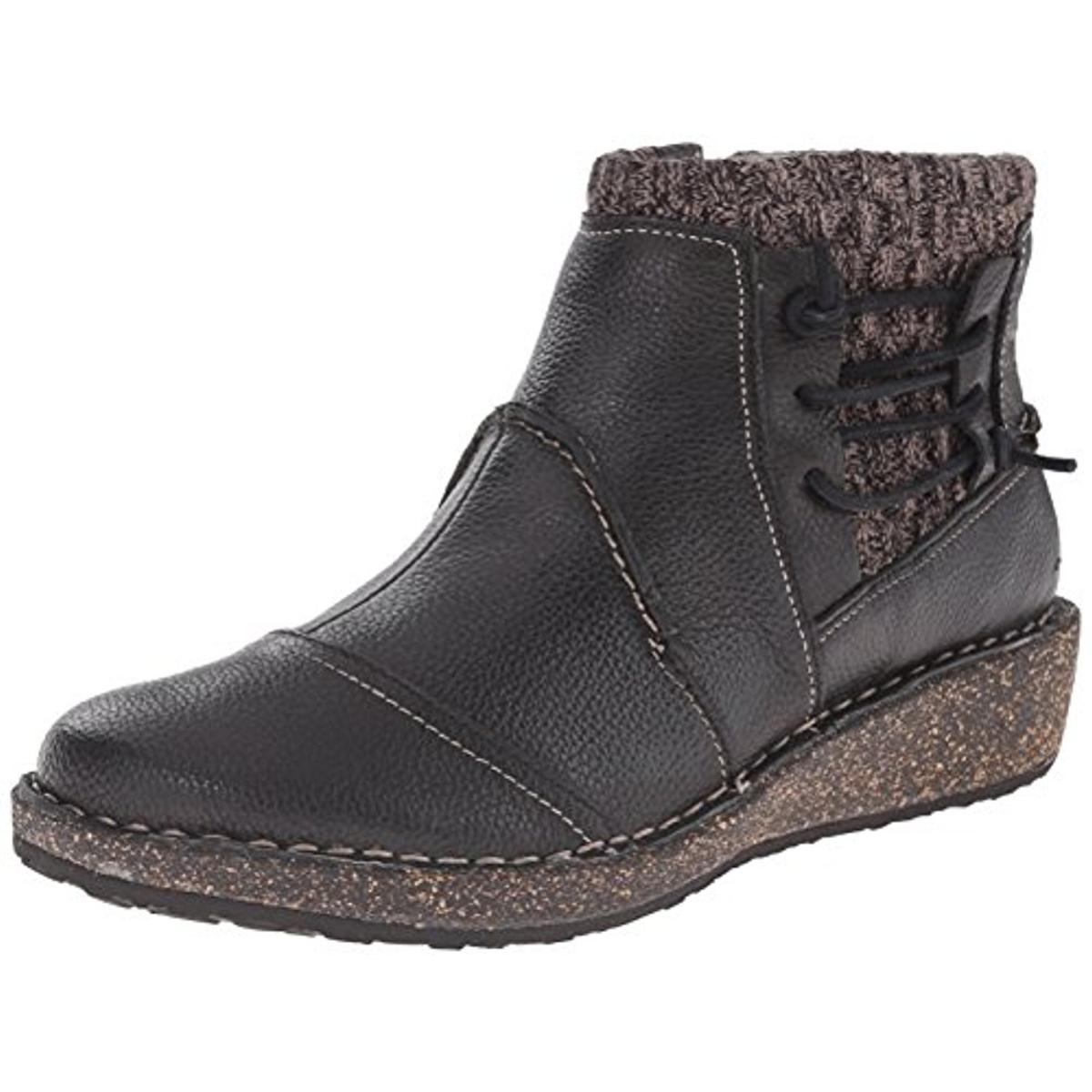 Aetrex Womens Tessa Leather Mixed Media Booties by Aetrex