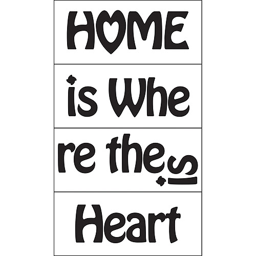Home Is Where The Heart Is Self-Stick Decal