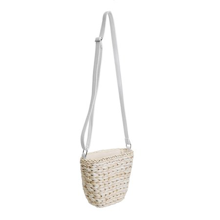 Women Straw Beach Bag Handwoven Rattan Handbags Crossbody Bag Tote Summer  - image 3 de 6