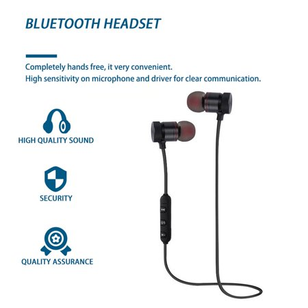 Easy-life Magnetic Wireless Sports Earphones Metal Earbuds Universal For Phone - image 1 of 6