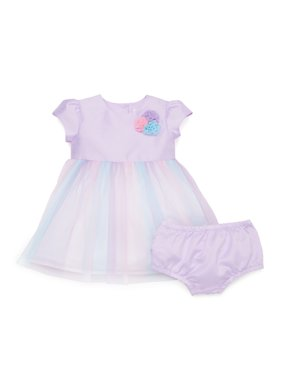 Wonder Nation Baby & Toddler Girls Easter Tutu Dress (Sizes NB-5T); Baby Sizes With Diaper Cover