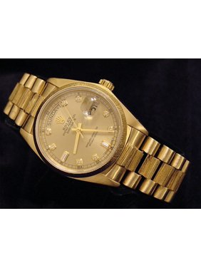 e0f221781ff2 Product Image Preowned Customized Rolex Mens President 18078 18K Watch  (Certified Authentic Warranty)