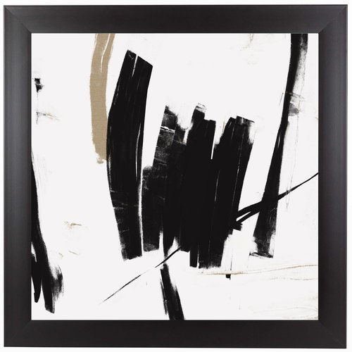 East Urban Home 'Black And White Abstract' Print