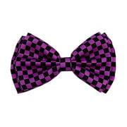 Bow Tie 4.3 inches Purple & Black Checkered