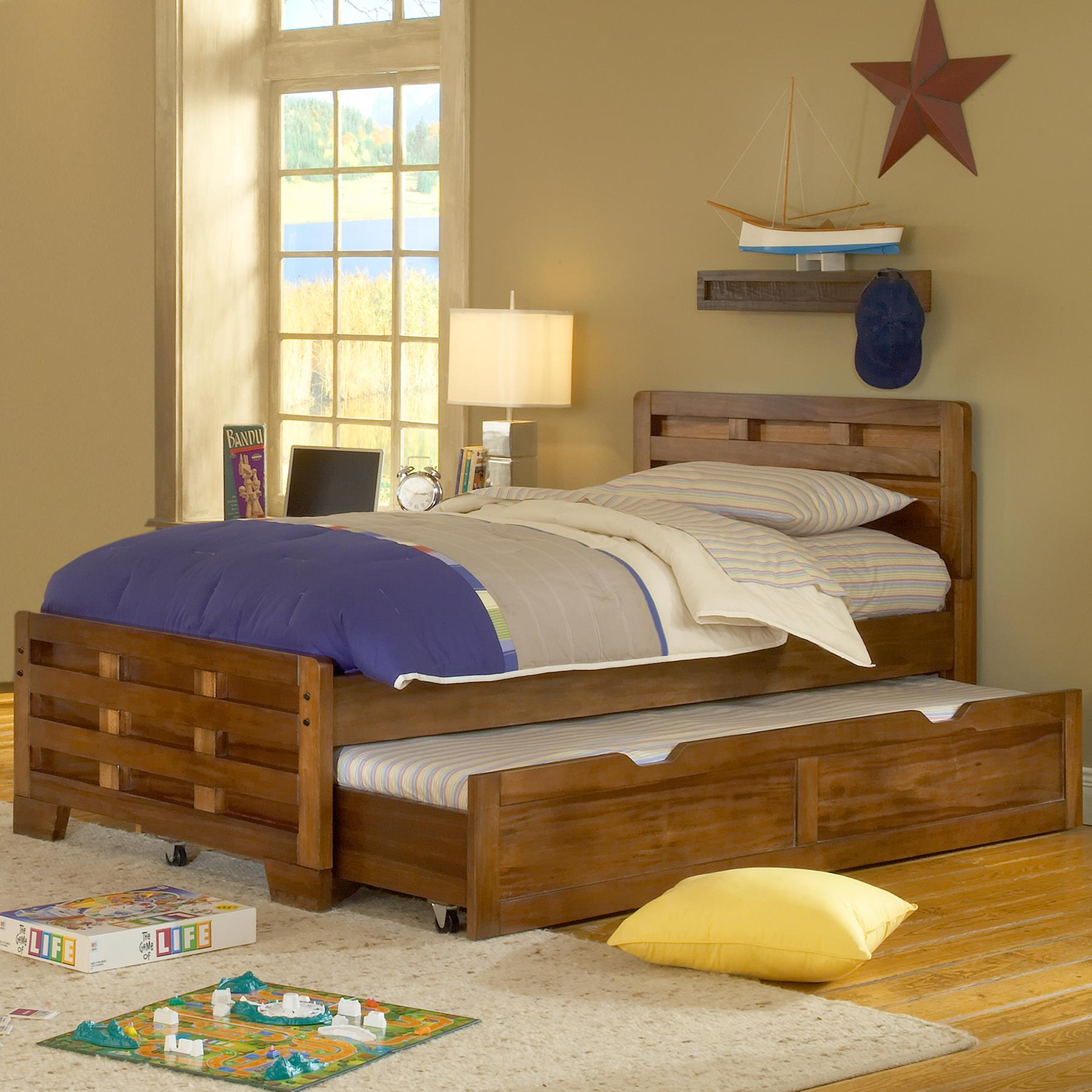 American Woodcrafters Heartland Captain Bed - (Twin/Without Trundle Unit)