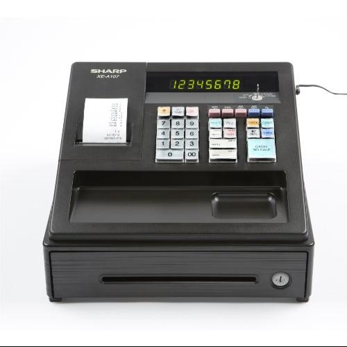 Sharp XEA107 Xea107 Cash Register, 80 Lookups, 8 Dept, 4 Clerk