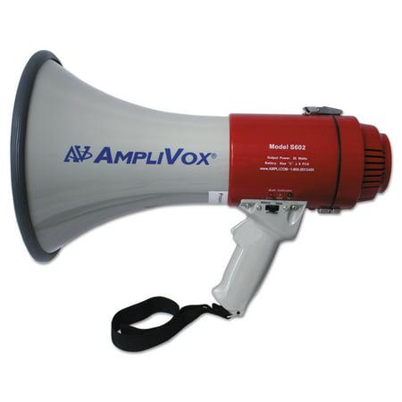 AmpliVox MityMeg Piezo Dynamic Megaphone, 25W, No Microphone - Megaphone Plastic