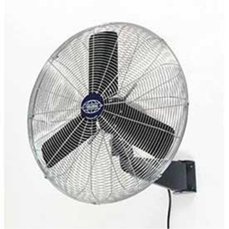 "Oscillating Wall Mount Fan, 30"" Diameter, 1/3hp, 8775cfm"