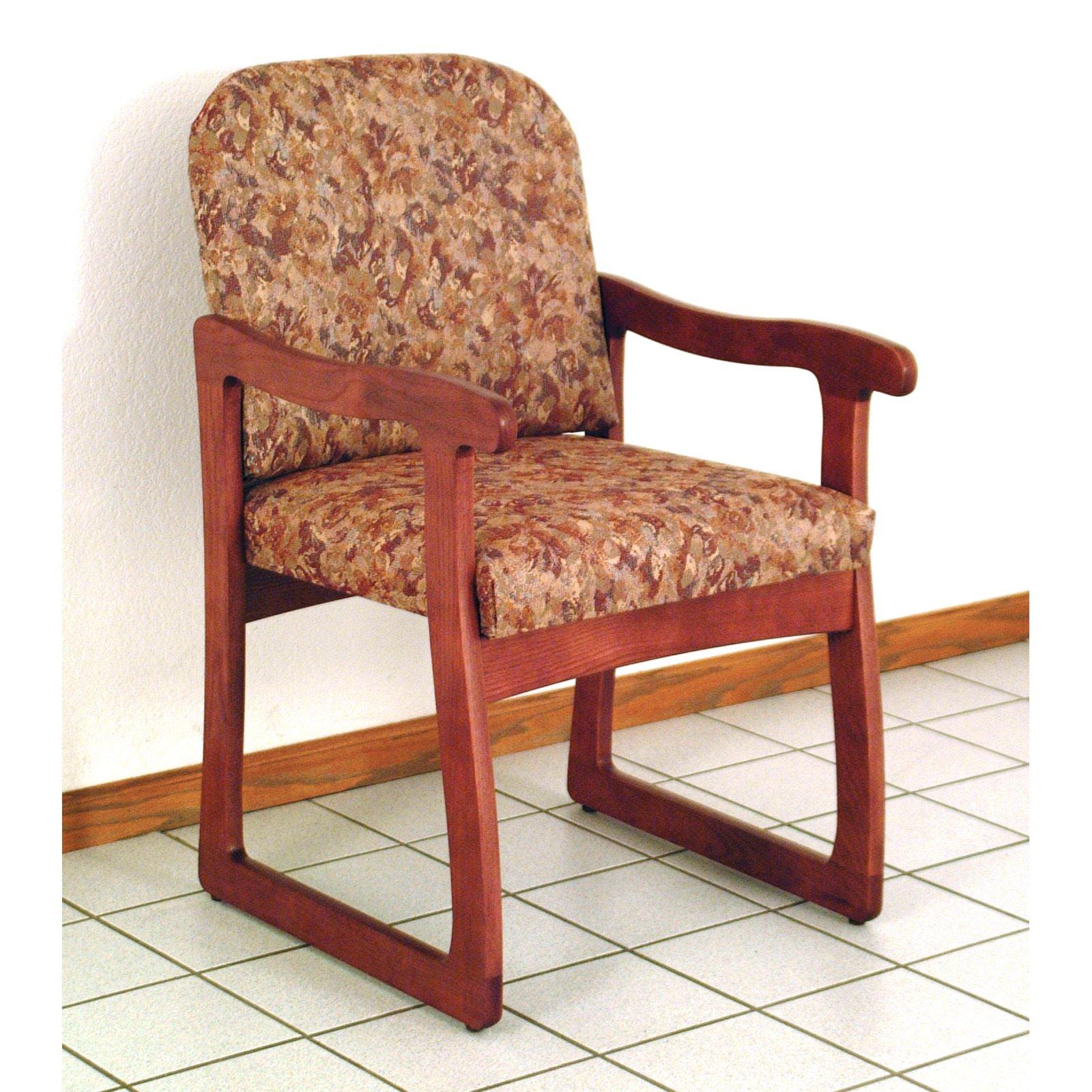 Wooden Mallet DW7-1 Solid Oak Guest Chair