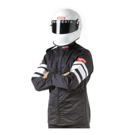 Racequip Safequip Black/White Stripe XL 121 Series Driving Jacket P/N 121006