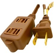 Professional Cable 9' 3-Outlet Standard Extension Cord, Brown
