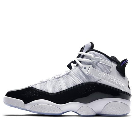 53c6cc2e5160 Air Jordan - Mens Air Jordan 6 Rings White Dark Concord Black 322992-104 -  Walmart.com