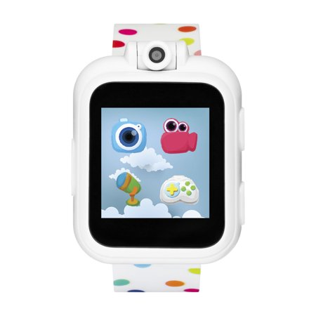 iTech Jr. Kids Smartwatch for Girls - Rainbow Polka Dot