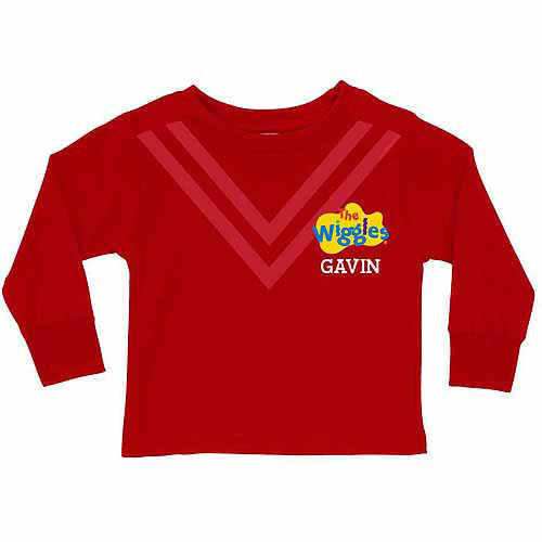 Personalized The Wiggles Uniform Toddler Red Long Sleeve Tee