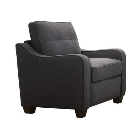 ACME Cleavon II Chair, Gray Linen (Acme Furniture Cleavon Ii Red Linen Chair)